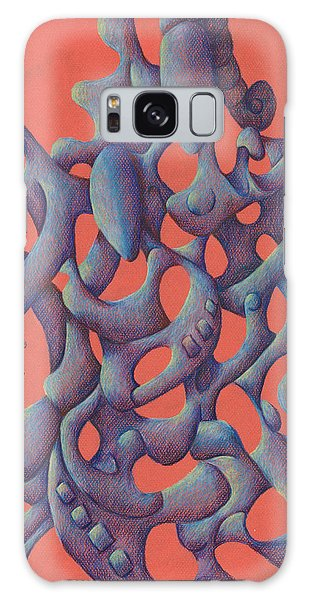 The Love Triangle Galaxy Case by Versel Reid