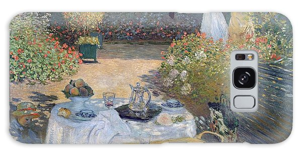 Flowerbed Galaxy Case - The Luncheon by Claude Monet