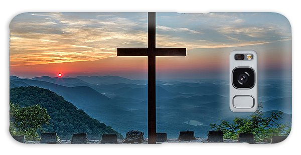 The Magnificent Cross Pretty Place Chapel Greenville Sc Great Smoky Mountains Art Galaxy Case