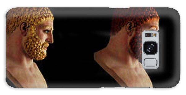 Galaxy Case featuring the mixed media The Many Faces Of Hercules by Shawn Dall