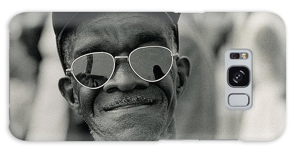 Martin Luther Galaxy Case - The March On Washington  A Smiling Man At Washington Monument Grounds by Nat Herz