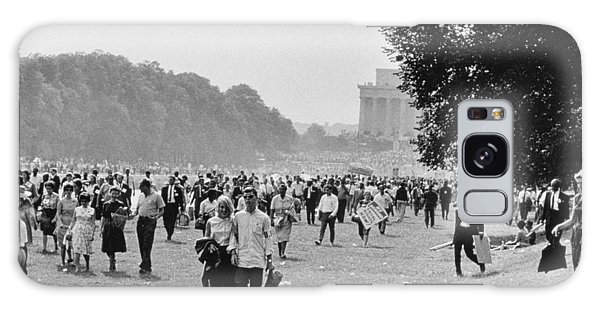 March On Washington Galaxy Case - The March On Washington  Heading Home by Nat Herz