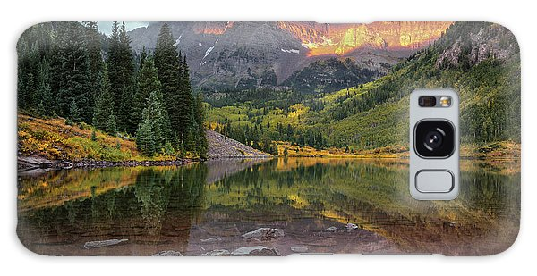 The Maroon Bells At Dawn Galaxy Case