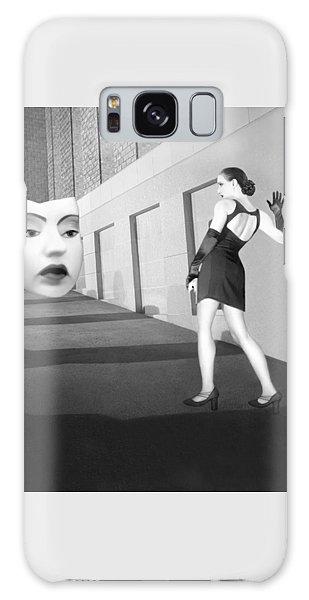 Thought Provoking Galaxy Case - The Mask - Self Portrait by Jaeda DeWalt