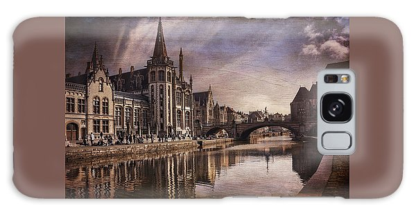 The Medieval Old Town Of Ghent  Galaxy Case by Carol Japp