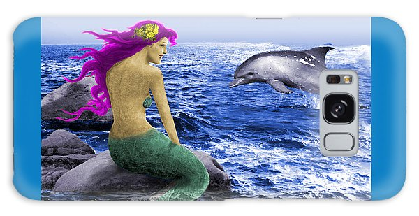 The Mermaid And The Dolphin Galaxy Case