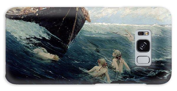 The Mermaid's Rock Galaxy Case by Edward Matthew Hale
