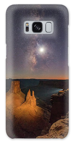 The Milky Way And The Moon From Marlboro Point Galaxy Case