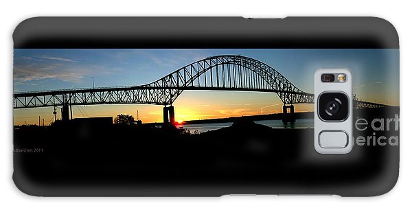 The Miramichi Bridge Sunset  Galaxy Case