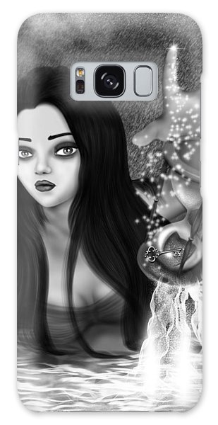 The Missing Key - Black And White Fantasy Art Galaxy Case