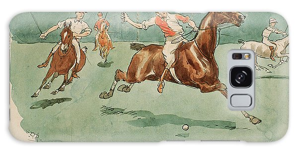 Sport Art Galaxy Case - The Month Of June  Polo by George Derville Rowlandson