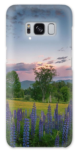 The Moon Rises Above Galaxy Case