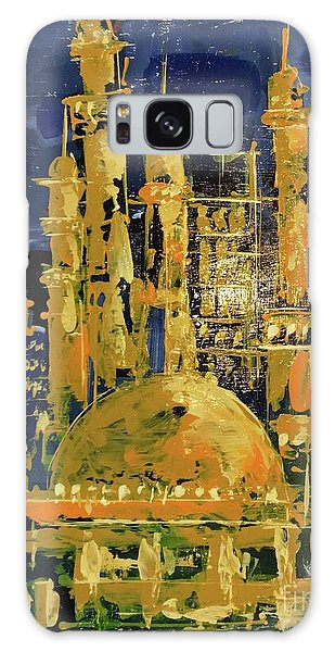 Galaxy Case featuring the painting The Mosque-3 by Nizar MacNojia