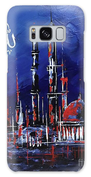 Galaxy Case featuring the painting The Mosque-4 by Nizar MacNojia