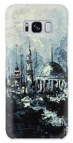 Galaxy Case featuring the painting The Mosque by Nizar MacNojia