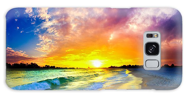 The Most Beautiful Sunset In The World Galaxy Case