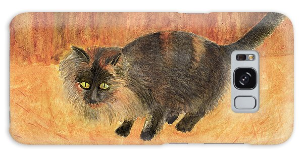 The Mouser, Barn Cat Watercolor Galaxy Case
