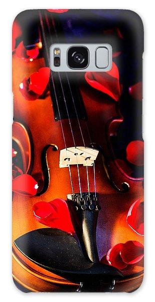 The Musical Rose Petals Galaxy Case