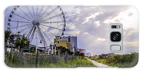 The Myrtle Beach, South Carolina Skywheel At Sunrise. Galaxy Case