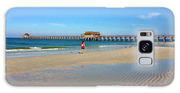 The Naples Pier At Low Tide Galaxy Case