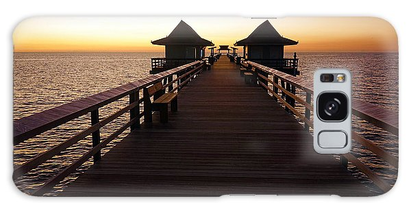 The Naples Pier At Twilight - 01 Galaxy Case