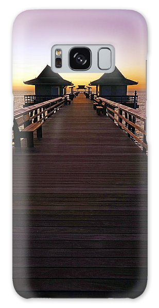The Naples Pier At Twilight Galaxy Case