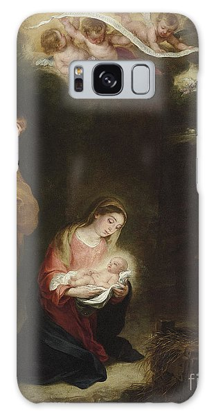 Annunciation Galaxy Case - The Nativity With The Annunciation To The Shepherds Beyond by Bartolome Esteban Murillo