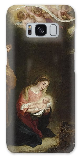Bethlehem Galaxy Case - The Nativity With The Annunciation To The Shepherds Beyond by Bartolome Esteban Murillo