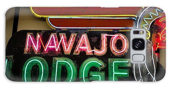 The Navajo Lodge Sign In Prescott Arizona Galaxy Case