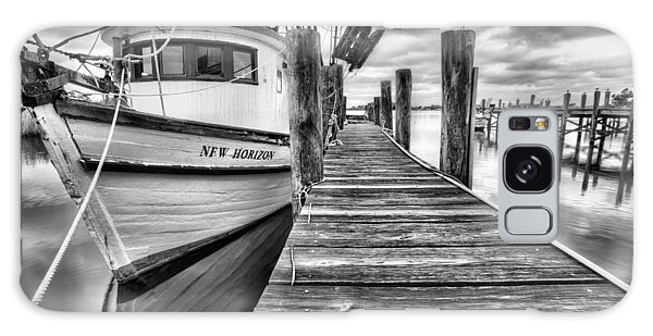 Galaxy Case featuring the photograph The New Horizon Shrimp Boat Bw by JC Findley