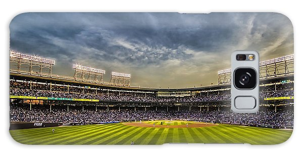 The New Wrigley Field With Pretty Sunset Sky Galaxy Case
