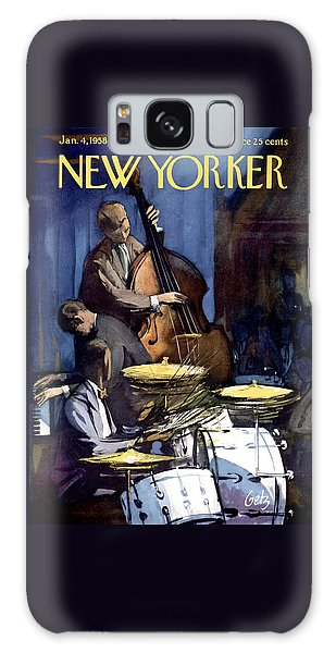 Drum Galaxy Case - The New Yorker Cover - January 4th, 1958 by Arthur Getz