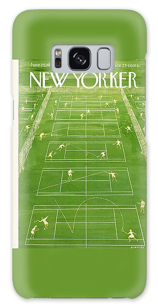 Tennis Galaxy S8 Case - The New Yorker Cover - June 25th, 1960 by Anatol Kovarsky