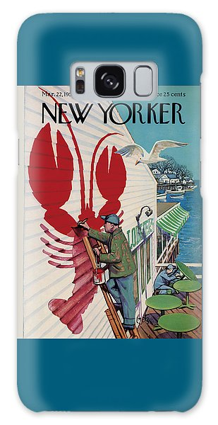 The New Yorker Cover - March 22nd, 1958 Galaxy Case