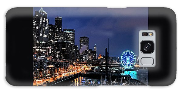The Night Before Super Bowl Xlix, 2014, Seattle Waterfront Galaxy Case