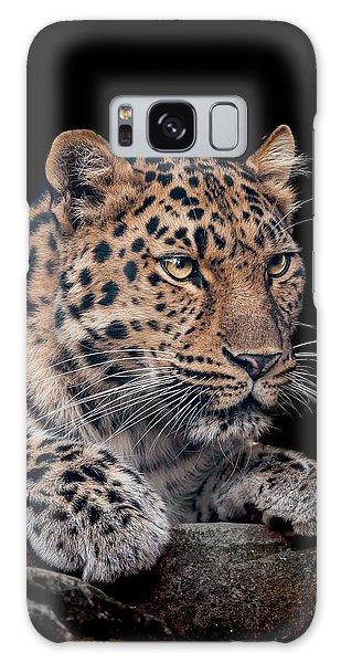 Leopard Galaxy S8 Case - The Night Watchman by Paul Neville