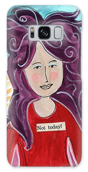 Fairy Galaxy Case - The Not Today Fairy- Art By Linda Woods by Linda Woods