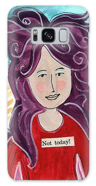 Cartoon Galaxy Case - The Not Today Fairy- Art By Linda Woods by Linda Woods