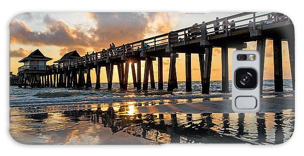 Naples Pier At Sunset Naples Florida Ripples Galaxy Case