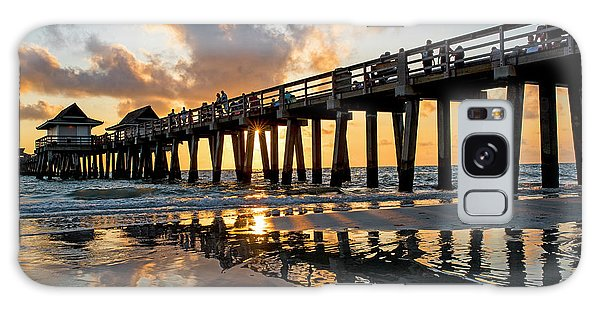 Naples Pier At Sunset Naples Florida Ripples Galaxy Case