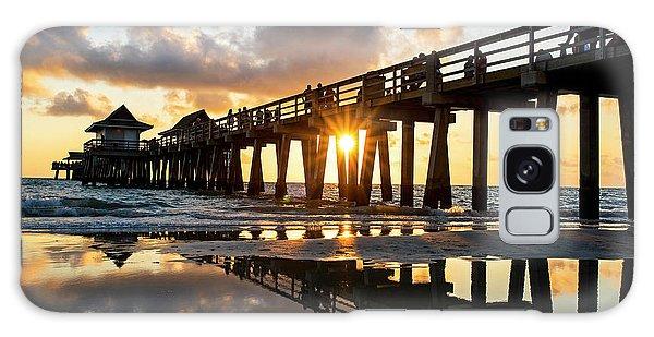 Naples Pier At Sunset Naples Florida Galaxy Case