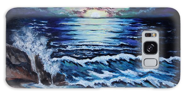 The Ocean Sings The Sky Listens Galaxy Case by Cheryl Pettigrew