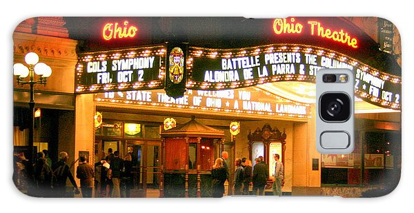 The Ohio Theater At Night Galaxy Case by Laurel Talabere
