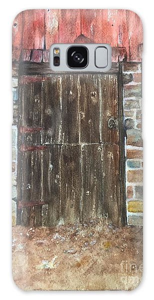 The Old Barn Door Galaxy Case by Lucia Grilletto