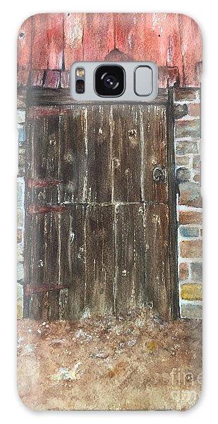 The Old Barn Door Galaxy Case