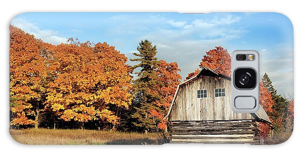 Galaxy Case featuring the photograph The Old Barn In Autumn by Heidi Hermes