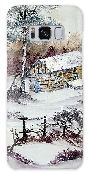 The Old Barn In Winter Galaxy Case