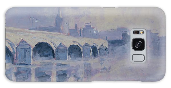 The Old Bridge Of Maastricht In Morning Fog Galaxy Case by Nop Briex