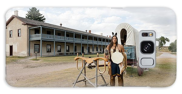 The Old Cavalry Barracks At Fort Laramie National Historic Site Galaxy Case by Carol M Highsmith