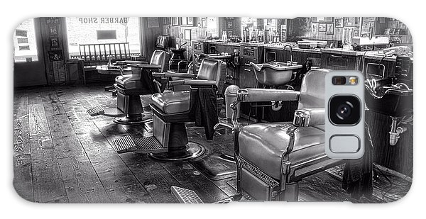 The Old City Barber Shop In Black And White Galaxy Case